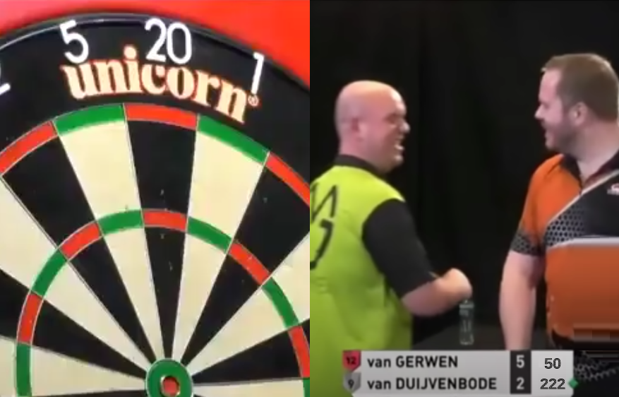 VIDEO: Funny Response After Van Gerwen 10-Darter Attempt On Bull's-Eye