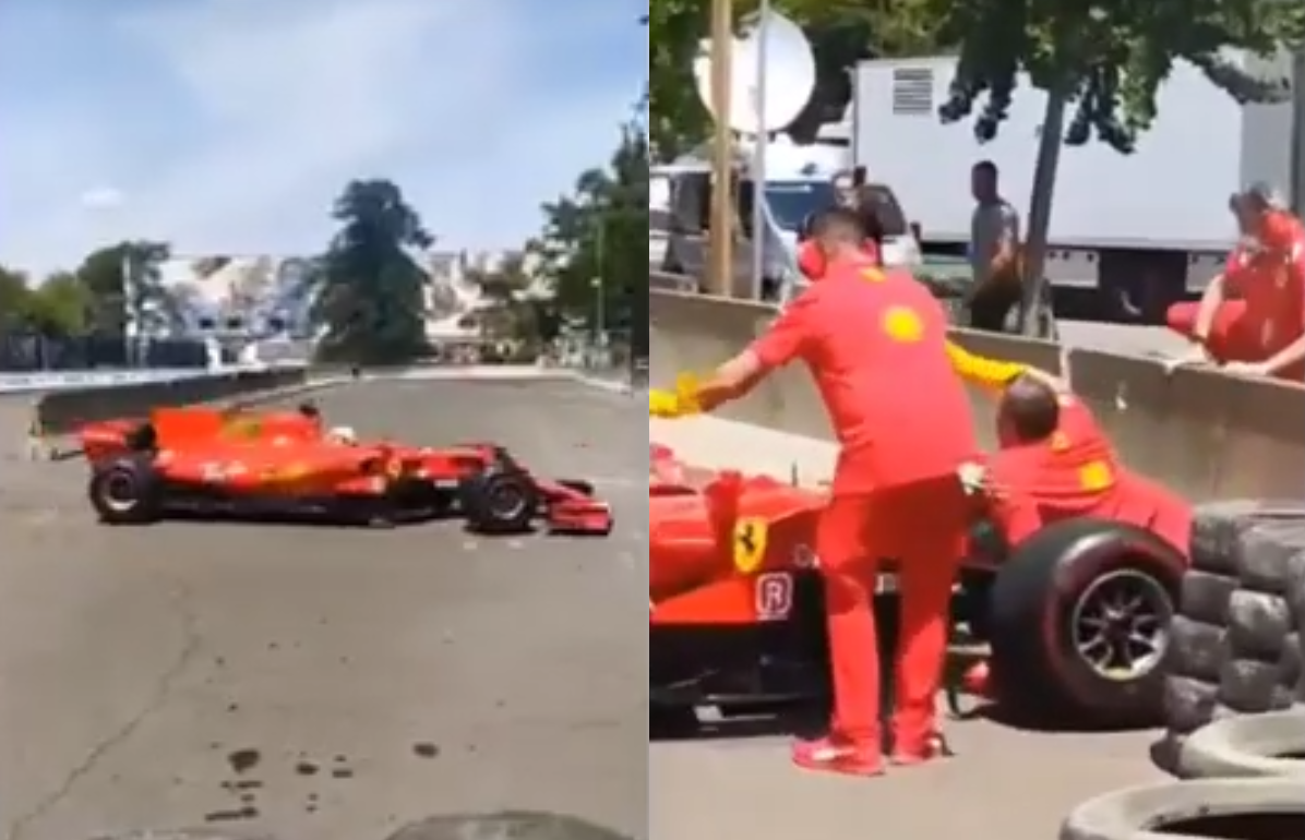 VIDEO: F1 Demo By Ferrari Goes Horribly Wrong And Mechanic Gets Run Over