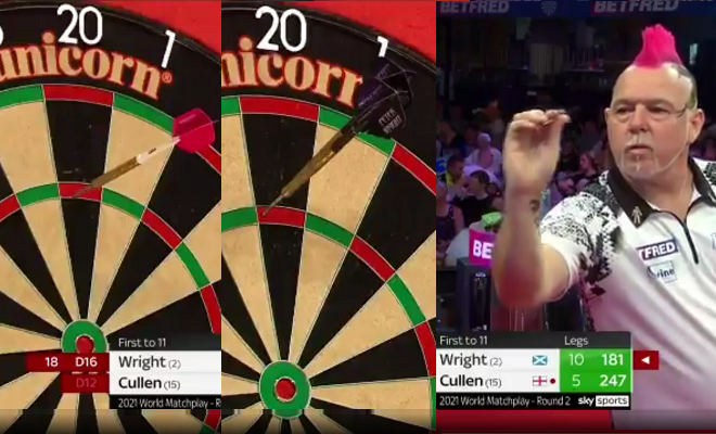 VIDEO: Peter Wright Switched Darts During Game Against Joe Cullen