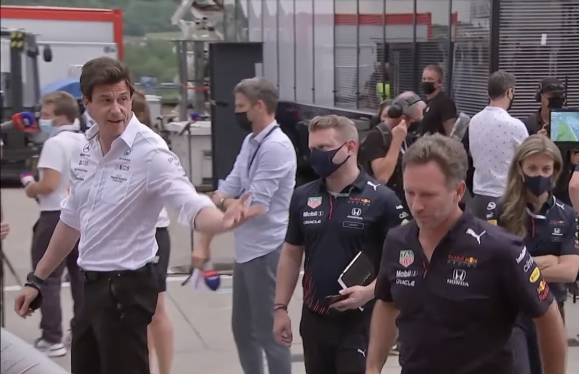 VIDEO: Moment Between Toto Wolff & Christian Horner After Hungary 2021