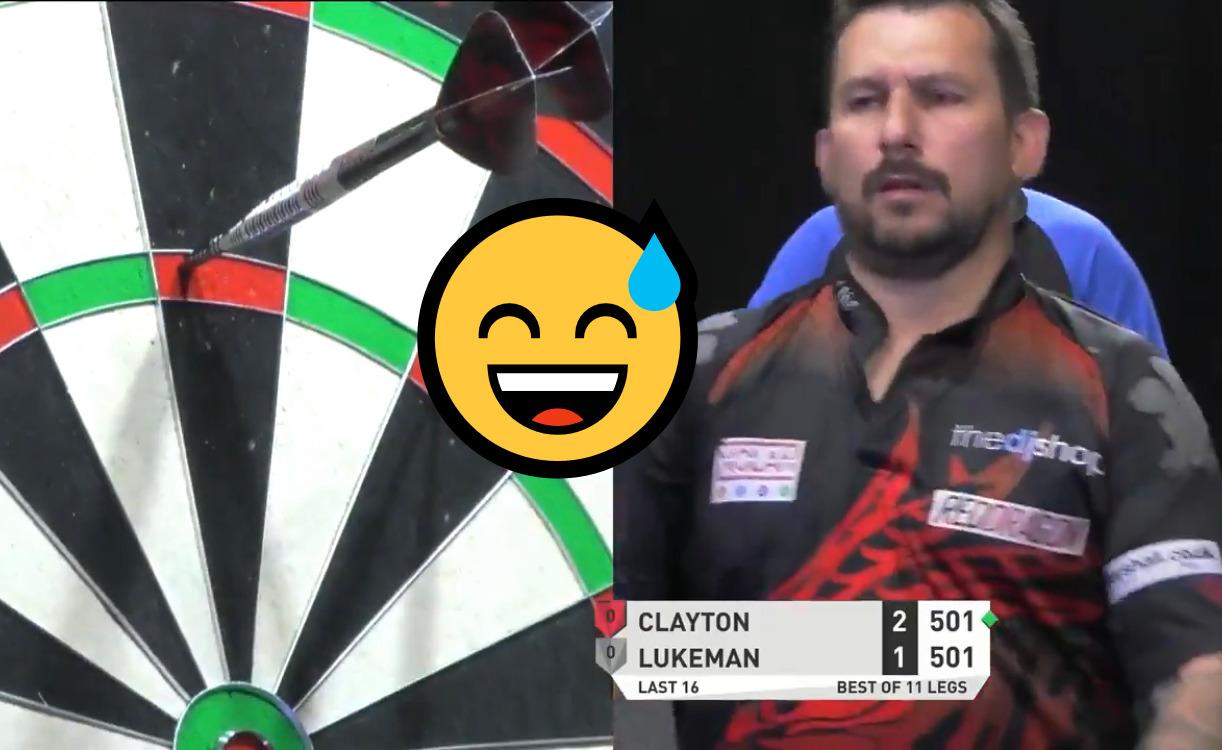 VIDEO: Jonny Clayton Has Crazy Lucky Shot At Players Championship 22