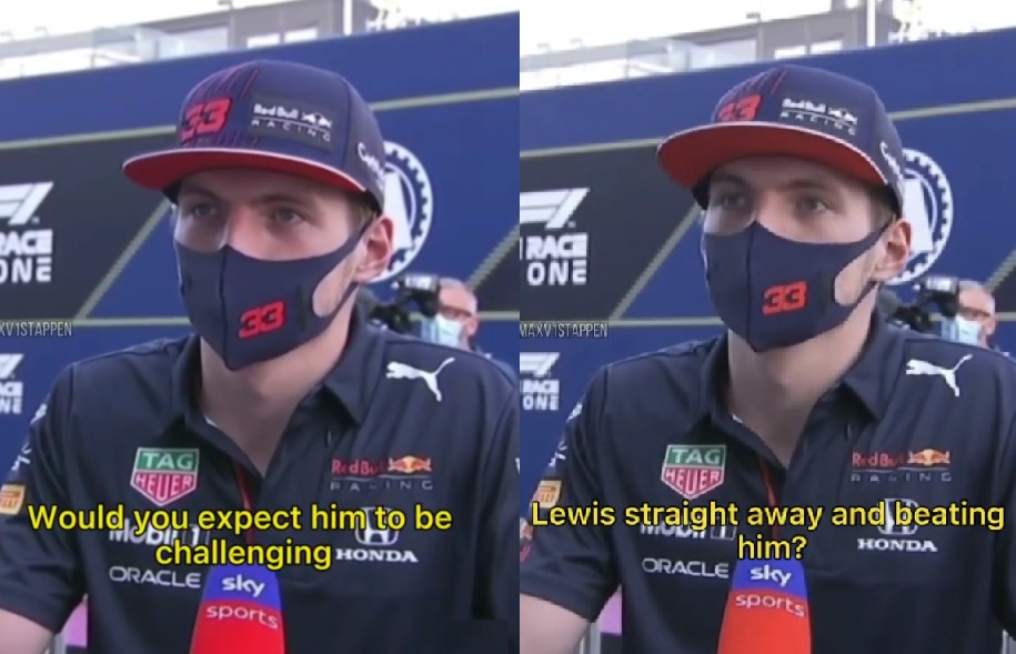 VIDEO: Max Verstappen About George Russell Challenging Lewis Hamilton