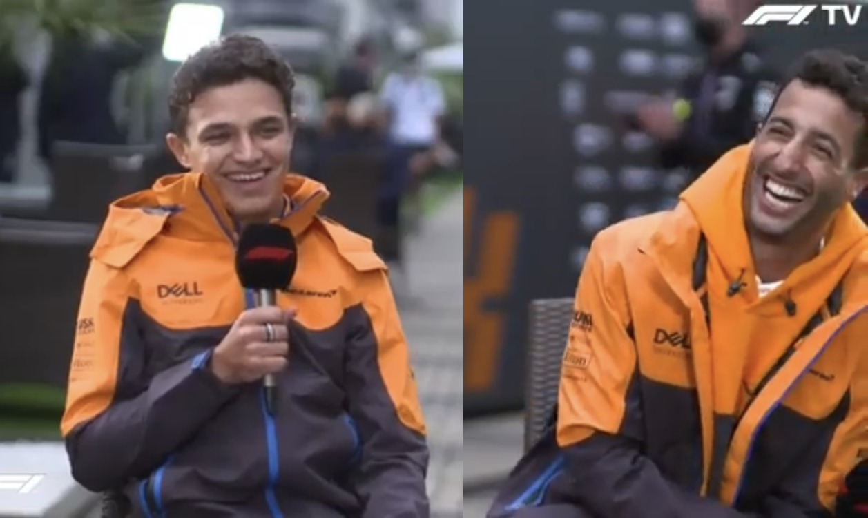 VIDEO: Lando & Daniel Interviewing Each Other At Russian Grand Prix