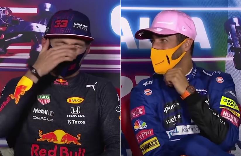 VIDEO: Funny Moment Between Ricciardo & Verstappen In Press Conference