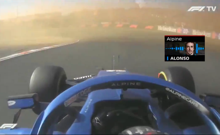 VIDEO: Fernando Alonso Finding Out Max Verstappen Won During Last Lap