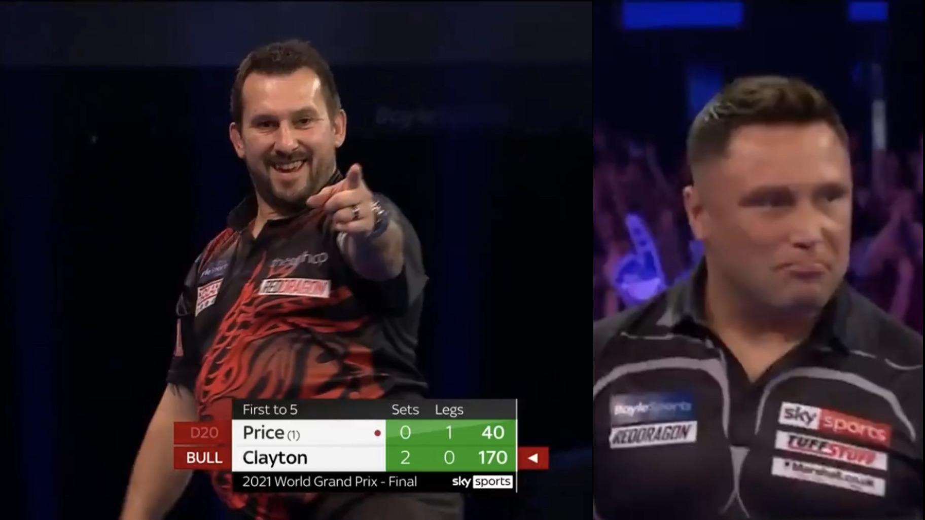 VIDEO: Bizarre 3rd Set Won By Clayton Despite Gerwyn Price 115+ Average