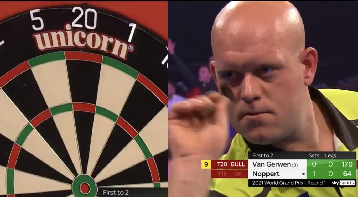 VIDEO: Michael van Gerwen's 9-Darter Attempt Including A 170 Checkout
