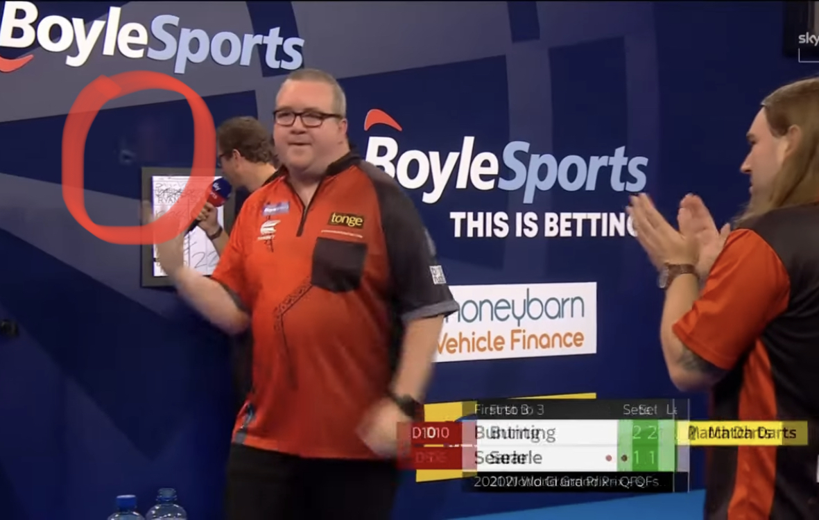 VIDEO: Stephen Bunting Nearly Hit Referee Throwing Last Darts Into The Air