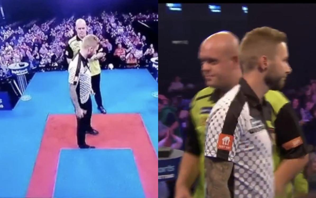 VIDEO: Incident Between Michael van Gerwen & Danny Noppert On Stage