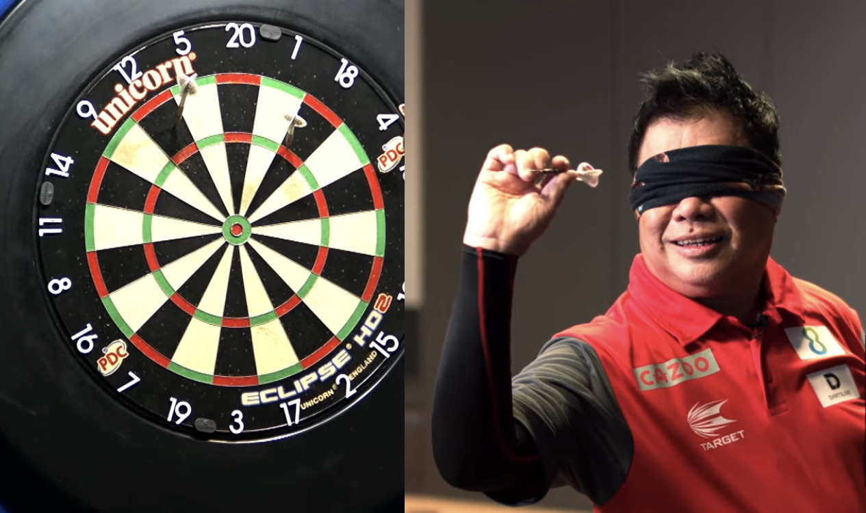 VIDEO: Paul Lim Does The New PDC Challenge Called Blind Darts