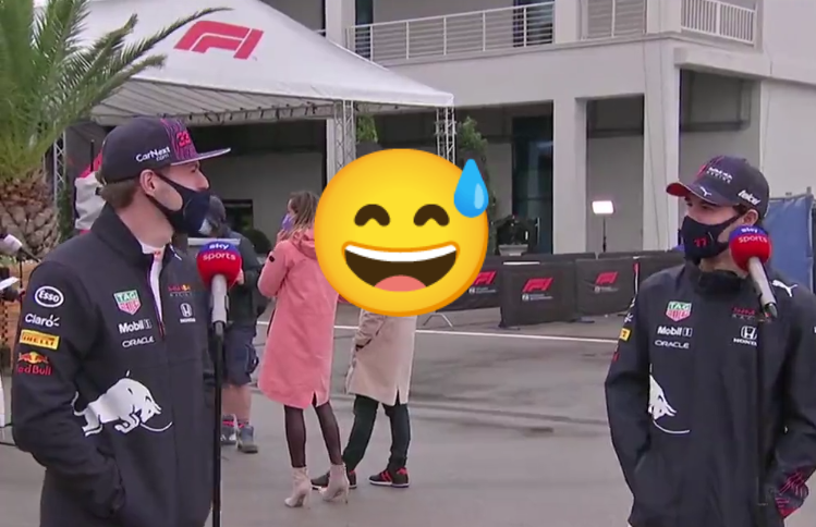 VIDEO: Sergio Perez Telling Max Verstappen He Owes Him Some Tequilla's